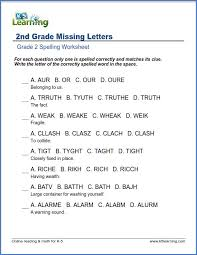 2Nd Grade Spelling Worksheets Worksheets for all | Download and ...
