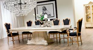 classic dining table crystal rectangular for hotels