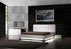black modern platform bed. Perfect LED Lights And Black Accent Wall Using Grey Rug For High End Bedroom Ideas With Modern Platform Bed