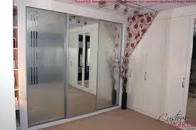 image of the decoration rustic sliding mirror closet doors ideas