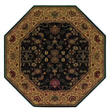 couristan everest tabriz midnight 8 ft x 8 ft octagon area rug