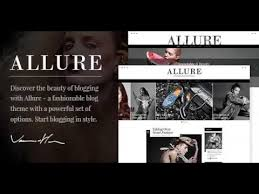 Music Website Templates Magnificent Allure A Fashionable Blog Theme Themeforest Website Templates