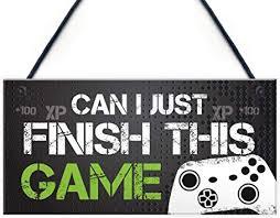 RED OCEAN Funny Gamer Gift Gaming <b>Sign</b> For <b>Boys</b> Bedroom ...