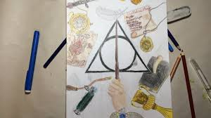 Harry Potter Art Speed Drawing Crayola Colored Pencils Youtube