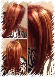 All Over Red With Chunky Blonde