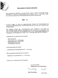 Лихтенштейн компании в Лихтенштейне стоимость корпоративные  Учредительный договор act of constitution