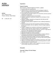 Network Engineer Resume Sample   Velvet Jobs