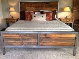 iron and wood bedroom furniture. reclaimed wood and steel bed iron bedroom furniture f