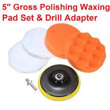 "<b>5Pcs 5</b>"" <b>inch</b> Polishing Pad <b>Set</b> Waxing Disc Wave Sponge Drill ..."