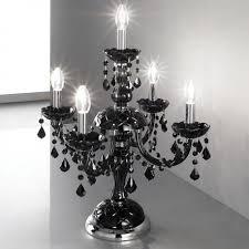 brindisi venetian crystal table lamp 4 1 lights black with black