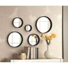 black mirror decor round mirrors
