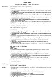Recruiting Specialist Resume Sample Jd Templates Talent Acquisition Coordinator Job Description Template 19