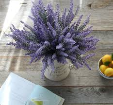 artificial flower purple lavender bouquet for home decor and