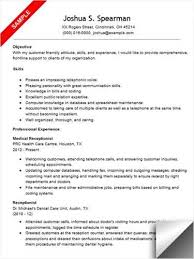 Resume Examples For Medical Office Receptionist. sample ...
