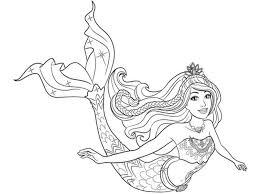 Barbie Sirena Da Stampare Barbie Princess Mermaid Coloring Mermaids
