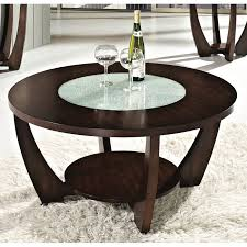 modern brown round coffee table rafael