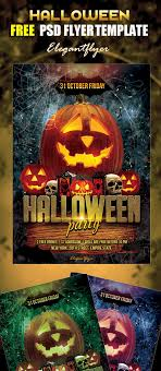 70 best flyer psd templates designmaz halloween party flyer psd template