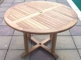 1 2m circular pedestal teak table