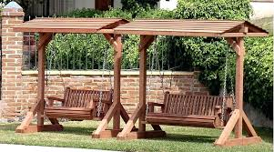outdoor swing with stand wooden bench swing stand outdoor swing with stand