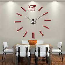Contemporary Design Dining Room Clock Joyous Terrific Wall Clock