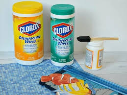 how to make clorox wipes rubber bands make these easy decorated wipes containers to match your