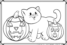 Small Picture Halloween Cat Coloring Pages Printables Fun For Halloween Coloring