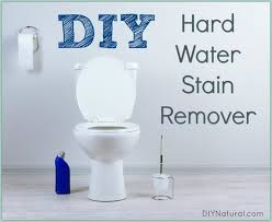 a diy hard water stain remover recipe