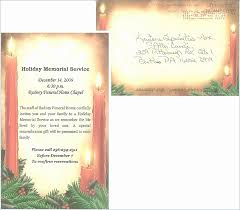 Memorial Service Invitation Template Cool Memorial Service Program Template Beautiful Celebration Life