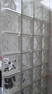 glass block shower kit standard fit