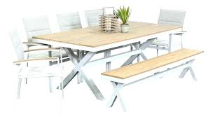 outdoor dining table with bench outdoor dining furniture outdoor wood dining table set outdoor faux wood