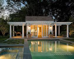 view in gallery twin pergolas add elegance to the classic pool house design merrimack design architects