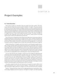 Example Of Project Design Chapter 6 Project Examples Performance Based Analysis Of