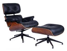 unique chair replicas with lounge ottoman black leather replica eames dining review