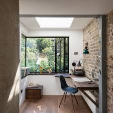 Industrial home office Industrial Style Urban Home Office And Library In London With White Walls Dark Hardwood Flooring And Houzz 75 Most Popular Industrial Home Office And Library Design Ideas For