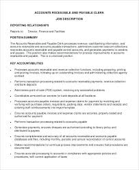 Accounts Payable Responsibilities Resume Accounts Receivables Resume