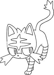 Drawing Litten Of The Pokémon Sun And Moon Coloring Page