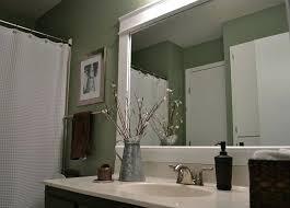 stylish bathroom mirror frame dwelling cents diy update stylish bathroom mirror frame dwelling cents diy update