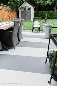 i painted my concrete patio slab last year and concrete pavers by my front door and i m showing how they look one year later
