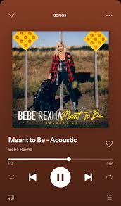 Meant to Be - Acoustic, a song by Bebe Rexha on Spotify | Songs, Music  playlist, Bebe rexha