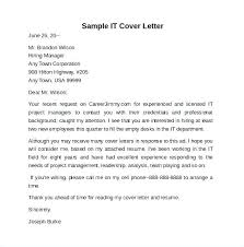 Technology Cover Letters Cover Letter Information Technology Cover Letter Information