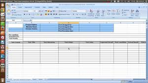 test plan template excel sample test case template youtube