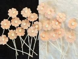 Paper Flower Hats Details About 100 Peach Handmade Mulberry Paper Flowers Salmon Dolls Hats Miniatures Tiny Card
