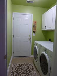 Decorations:Small Laundry Room Idea With Green Paint Wall Color Idea Cool  Color for Laundry