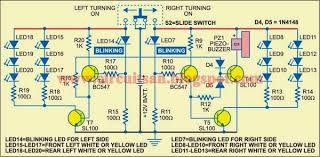 simple emergency lamp and turning indicator circuit diagram all emergency lamp and turning indicator circuit diagram fig 3