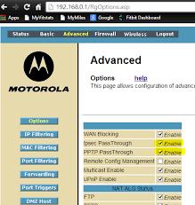 motorola 6580. re: setting up a vpn with motorola sbg6580 6580