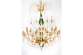 exceptional russian rock crystal chandelier mid 19th century russian beautiful emerald green crystal and rock
