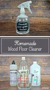 best homemade cleaning solution for hardwood floors
