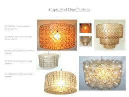 capiz shell drum shape pendants jpg