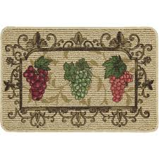mainstays nature trends g bunches printed kitchen mat 18 x 30 com