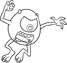Small Picture Monster University Mike Scaring Coloring Pages Wecoloringpage